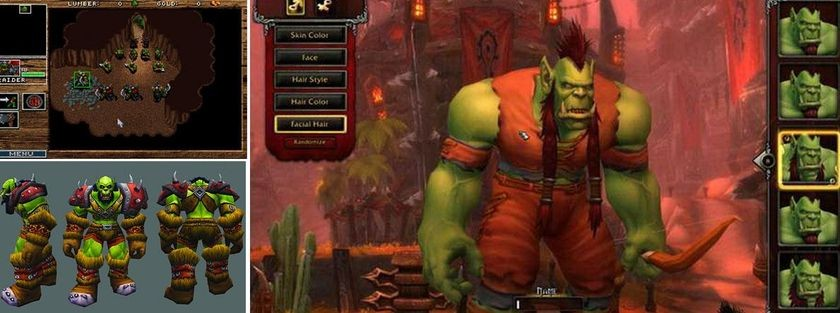 The Evolution of OrcsOrcs, <em>Warcraft: Orcs & Humans</em>, 1994 Orc development, <em>World of Warcraft</em>, 2004 Orc development, <em>WoW: Warlords of Draenor</em>, 2014