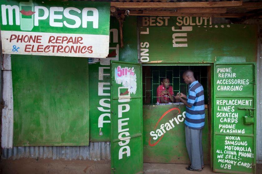 M-Pesa agent in Nairobi, Kenya, 2012