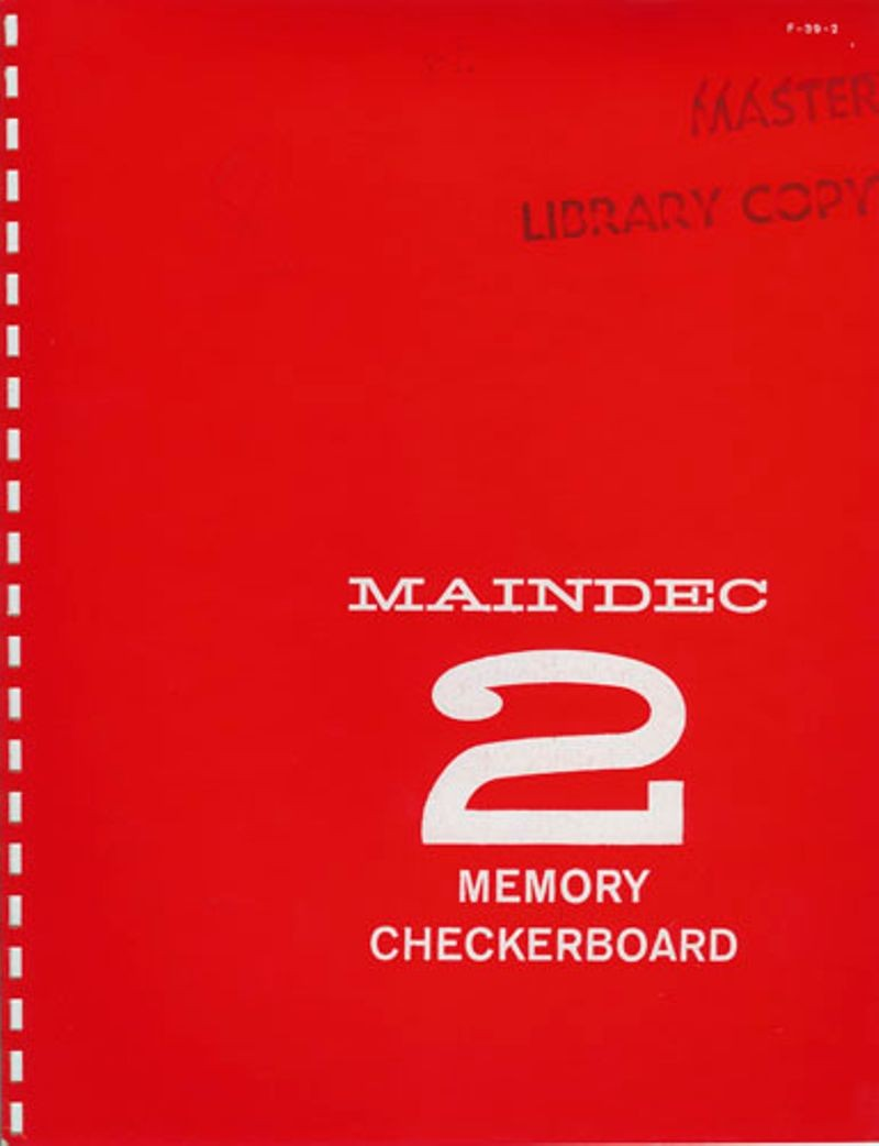 MAINDEC 2 Memory Checkerboard