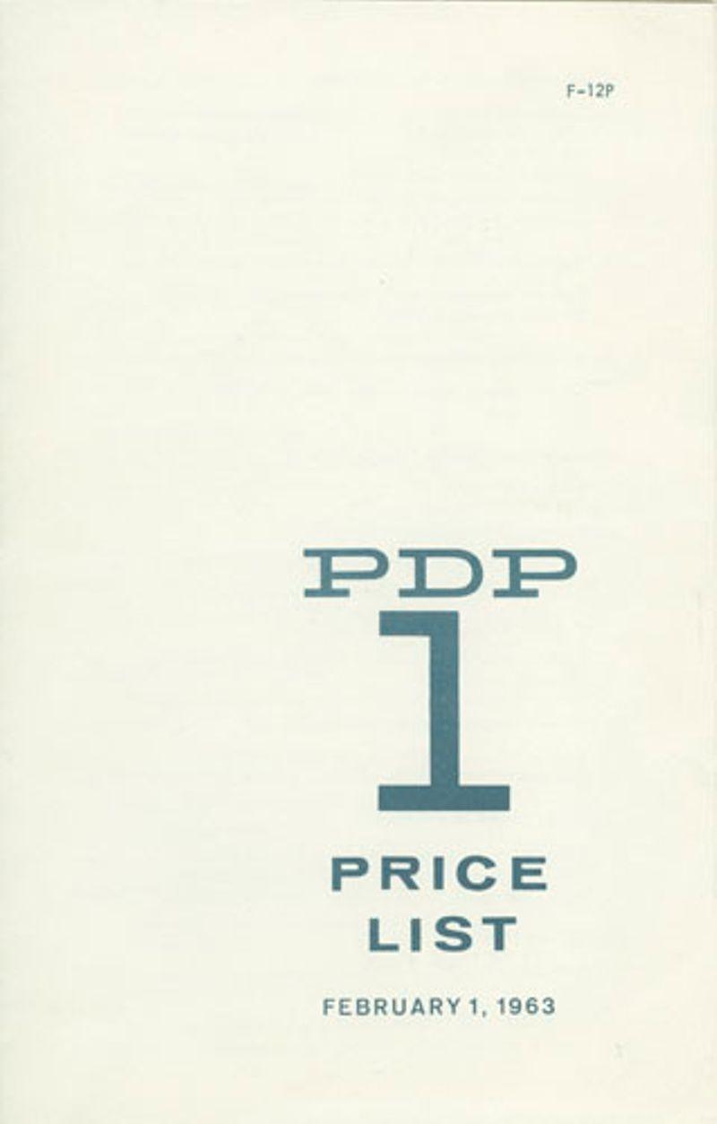 PDP-1 Price List