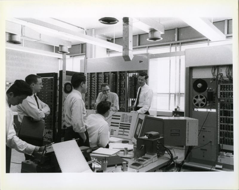 Professor Kenneth N. Stevens, Gordon Bell and the TX-0 computer at MIT