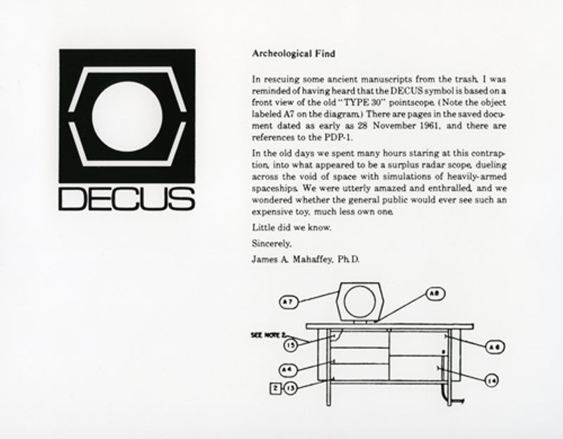 DECUS symbol and PDP-1