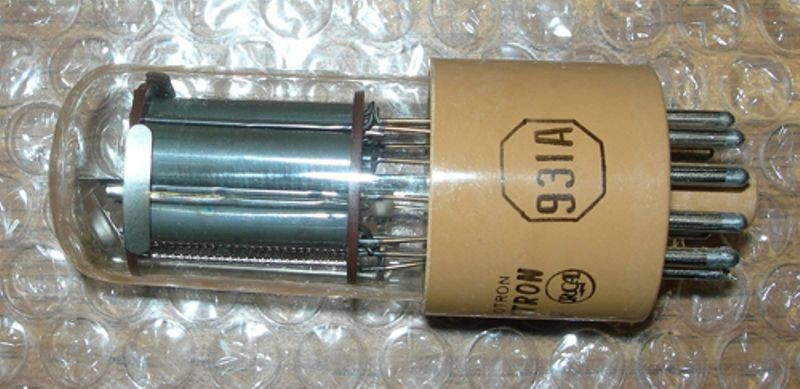 Photomultiplier tube from light pen used on the PDP-1, removed during PDP-1 restoration project