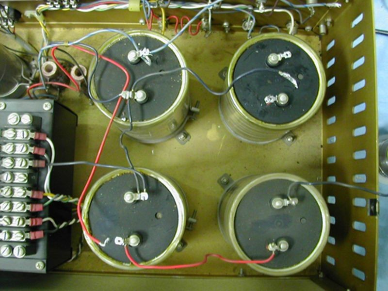 DEC PDP-1 power supply filter capacitors being restored by the PDP-1 restoration team