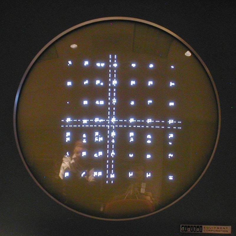 Stable test pattern on Type 30 display created as part of the DEC PDP-1 restoration project
