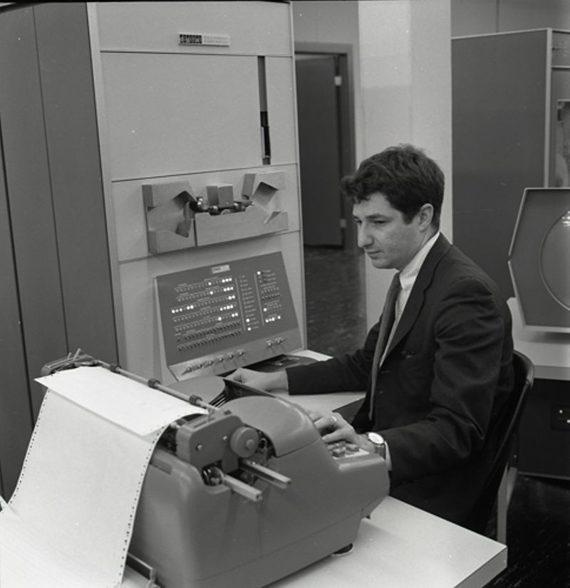 Ed Fredkin working on PDP-1