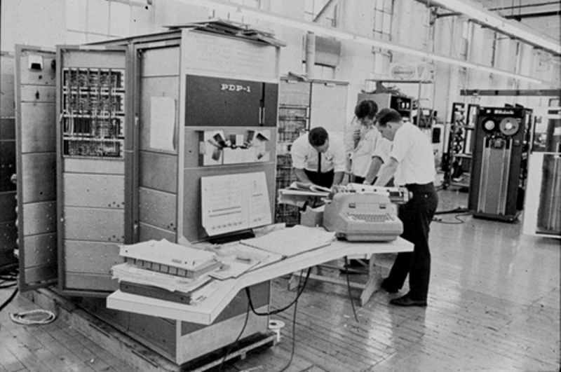 PDP-1 final checkout at DEC Mill plant