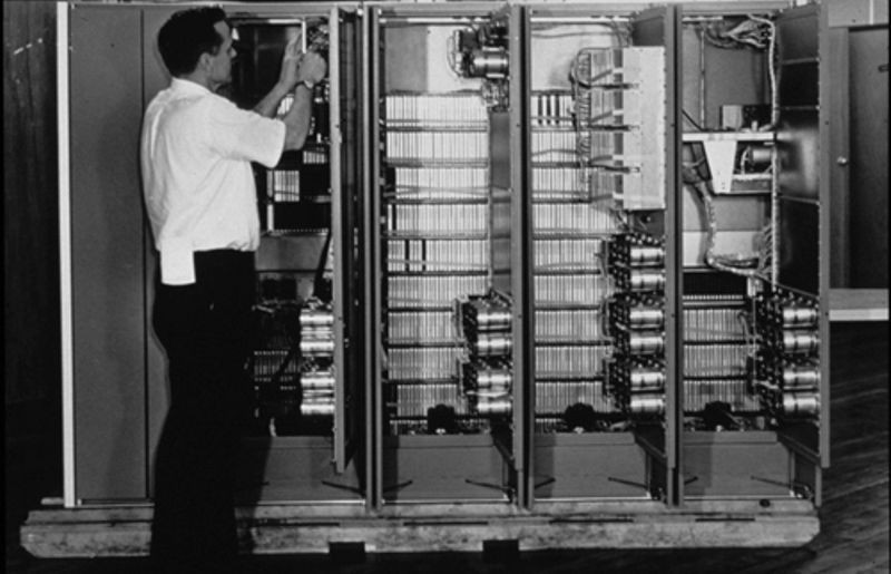Man working on PDP-1
