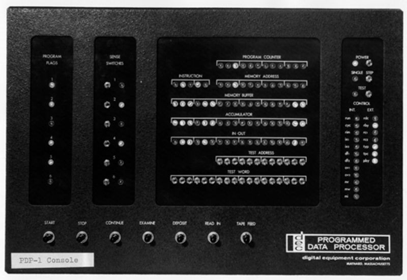 Early PDP-1 operator console