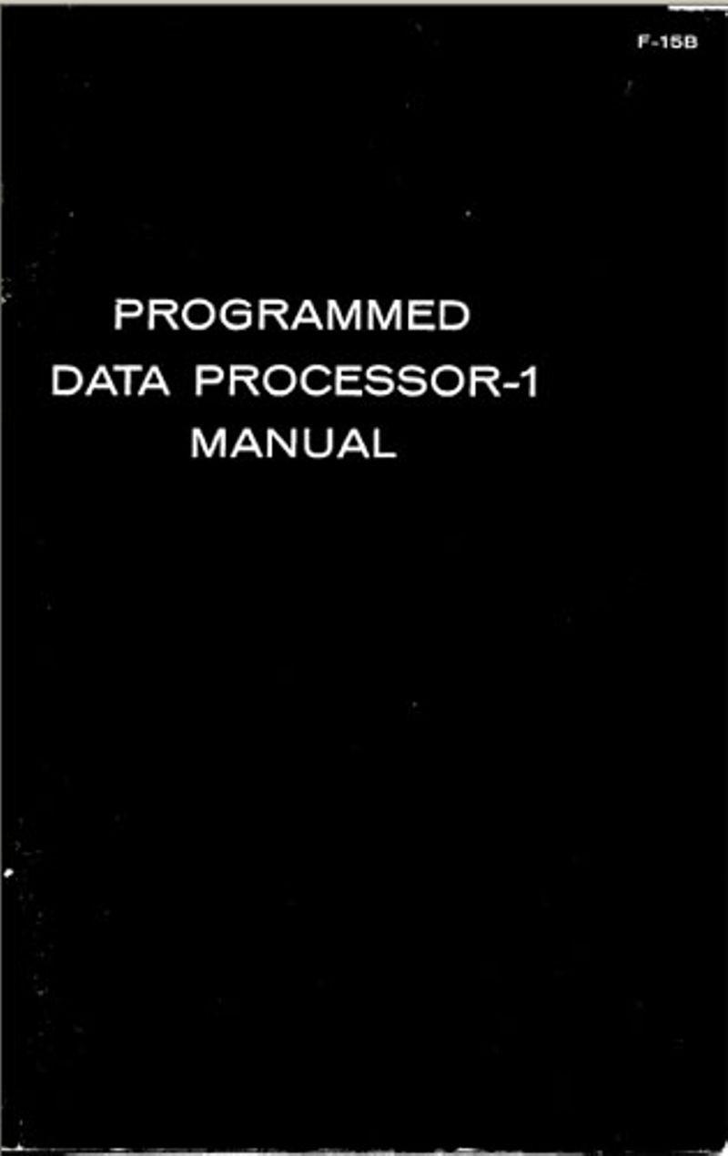 Programmed Data Processor-1 Manual