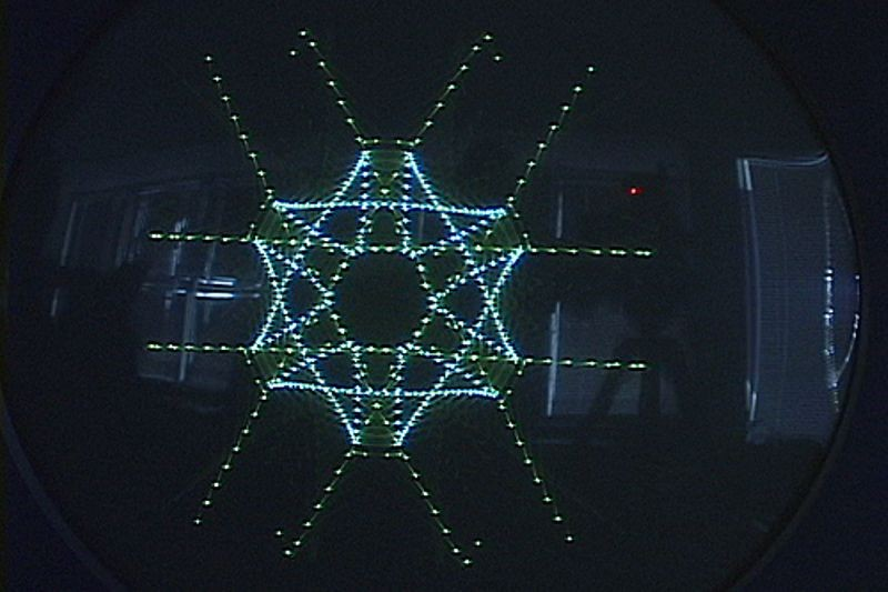 DEC PDP-1 snowflake pattern on monitor