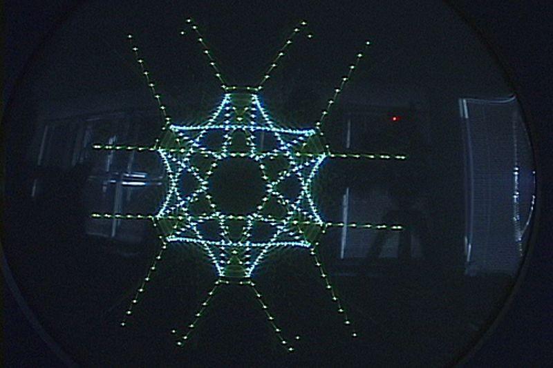 DEC PDP-1 snowflake pattern on monitor