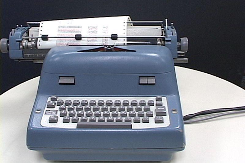 DEC PDP-1 Soroban restored typewriter