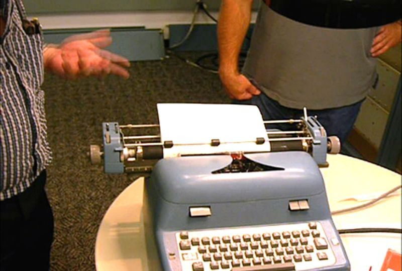 Restored and operating Soroban console typewriter attached to DEC PDP-1 during the Computer History Museum PDP-1 restoration project