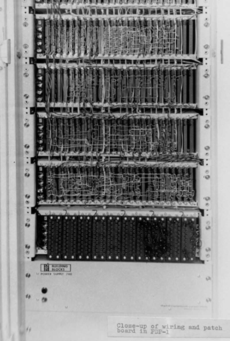 Close-up of PDP-1 backplane