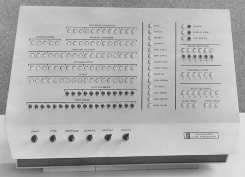 PDP-1 operator console