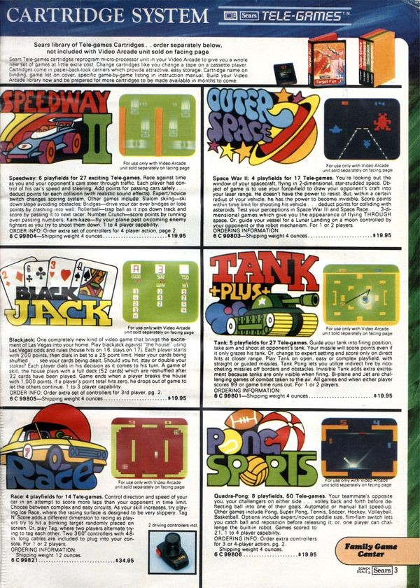 Telegames advertisement from Sears Christmas Wish Book - CHM