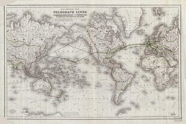The victorian internet chm revolution world telegraph map publicscrutiny Images