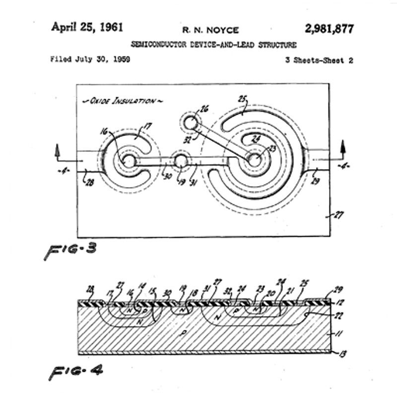 1959 practical monolithic integrated circuit concept patented the rh computerhistory org