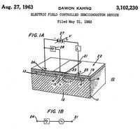Figure from Dawon Kahang's MOS patent