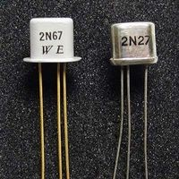 Western Electric 2N67 Point Contact transistor used in Flyable TRADIC computer (1954)