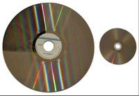 Laser disc (30 cm diameter) vs DVD