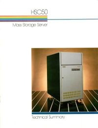 DEC HSC50 Mass Storage Server brochure (1983)