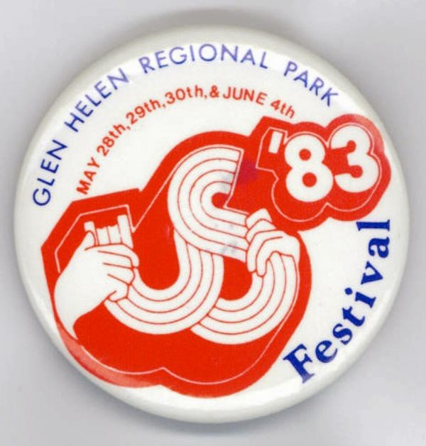 Button from the 1983 US Festival
