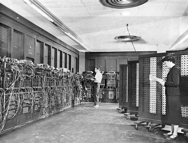 Programmers with the ENIAC at the Ballistic Research Laboratory at Aberdeen Proving Ground