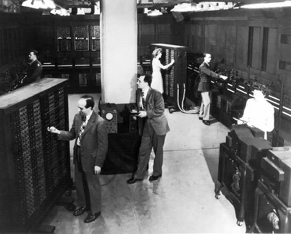 Eckert and Mauchly with the ENIAC