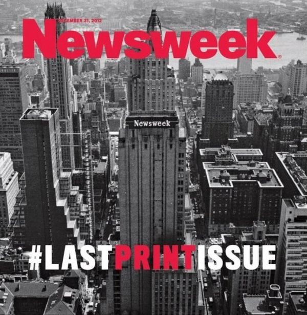Cover of last Newsweek print issue