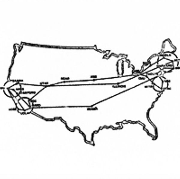 Map of the ARPANET in March 1972