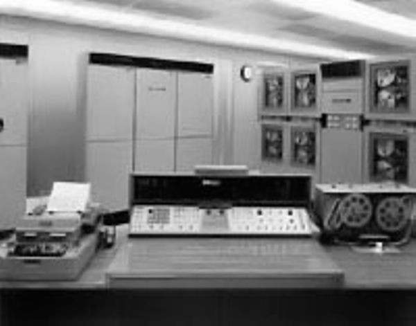 Console of GE's ERMA (Electronic Recording Machine - Accounting)