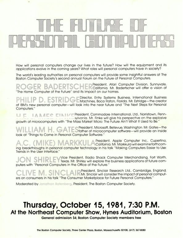 Rotenberg Founds The Boston Computer Society