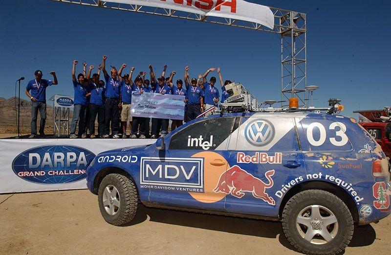 "<h2 class=""title"">Stanford's autonomous vehicle wins 2005 DARPA ""Grand Challenge""</h2>"