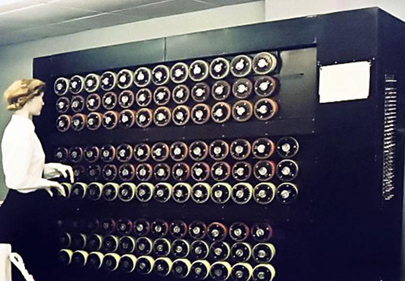 Bombe replica, Bletchley Park, Reino Unido