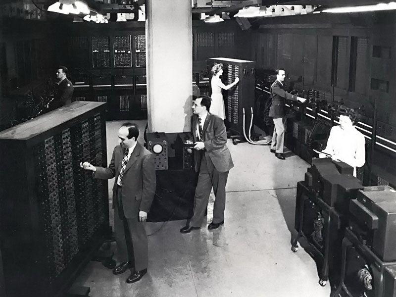 El ordenador ENIAC en una imagen de archivo