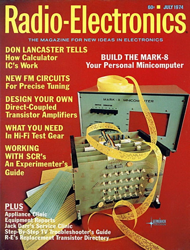 Computers Timeline Of Computer History Museum Digital Logic Electric Bell Quiz With Ic Electrical Engineering Mark 8 Featured On Radio Electronics July 1974 Cover