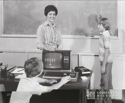 TRS-80 in school setting, c. 1982